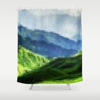 mountain Shower Curtains featuring Mountain by David Zydd