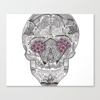 calavera Canvas Prints featuring Calavera. by malorrryink