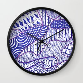 Zendoodle Artwork Wall Clock