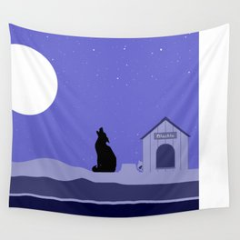 Moon Dog Wall Tapestry