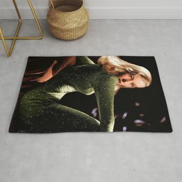 Classic Veronica Lake Portrait in Green - Jeanpaul Ferro Rug
