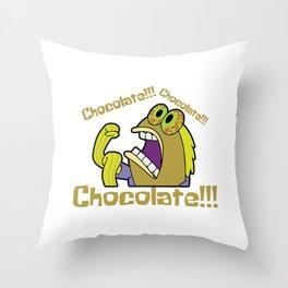 Chocolate!!! - Spongebob Throw Pillow