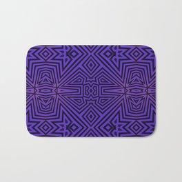 Purple/Black Tribal Pattern Bath Mat