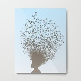 Musical Mind Metal Print