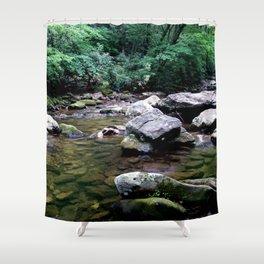 Jacob Fork River North Carolina Shower Curtain