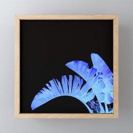 Neon Glow Tropical Palm Fronds Framed Mini Art Print