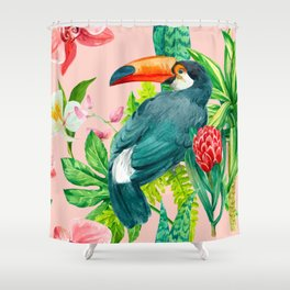 Tropical Toucan Shower Curtain
