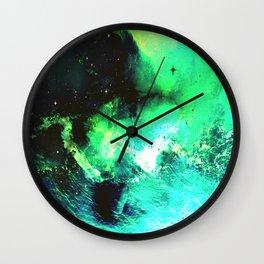 Green Nebula Wall Clock