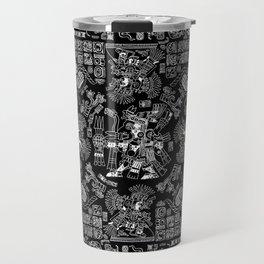 Mayan Spring B&W II Travel Mug