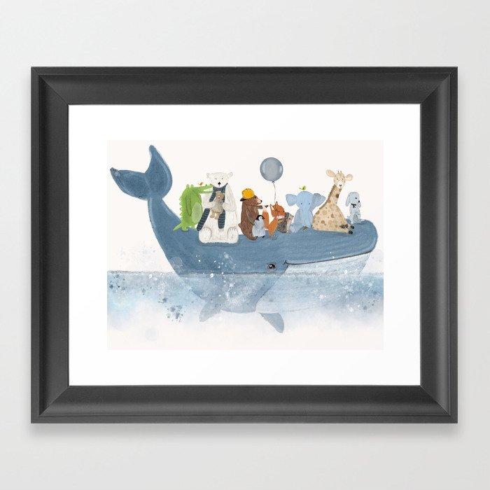 a whale of a time Gerahmter Kunstdruck