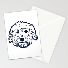 Goldendoodle dog face silhouette - perfect Golden doodle gift idea Stationery Cards