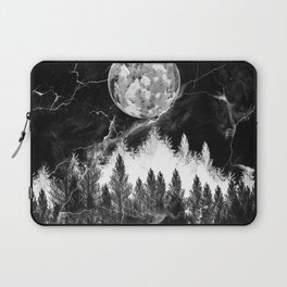 marble black and white landscape Laptop Sleeve