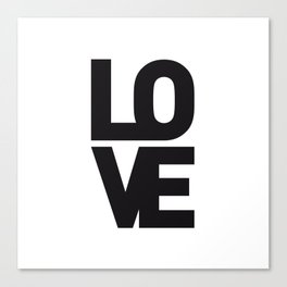 LOVE NO1 Canvas Print