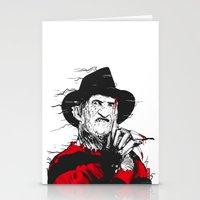 freddy krueger Stationery Cards featuring Freddy by Akyanyme
