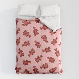 Lobster Pattern on Light Pink Comforters