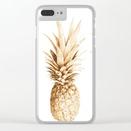 Pineapples and illusion Clear iPhone Case