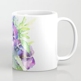 Pansy, flowers, violet flowers, gift for woman design floral vintage style Coffee Mug