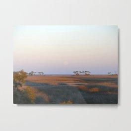 Moonrise on the Salt Marsh Metal Print