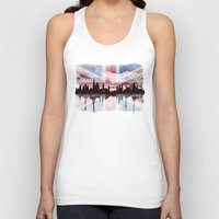 british flag Tank Tops featuring Great British Flag London Skyline 2 by Paint the Moment