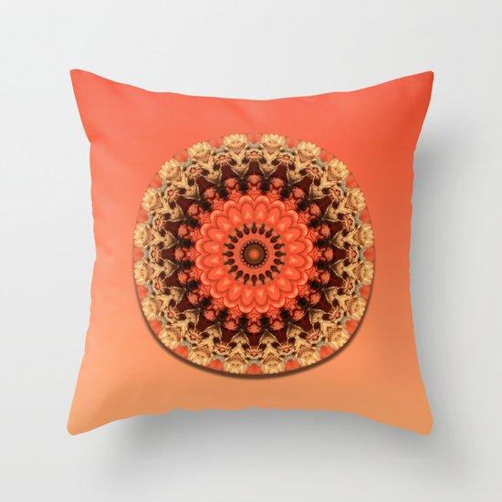 Pumpkin Kaleidoscope Throw Pillow