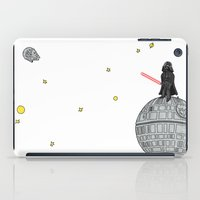 le petit prince iPad Cases featuring Le Petit Vader by Beth Naeyaert