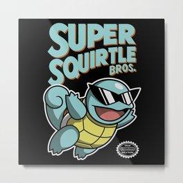 Super Squirtle Bros. Metal Print