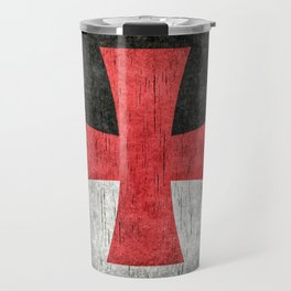 Knights Templar Flag in Super Grunge Travel Mug