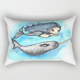Unicorn of the Sea Rectangular Pillow