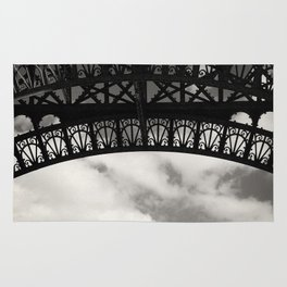 Black Lace of Eiffel Tower Rug