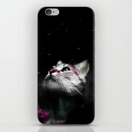Supernova of the Ethereal Cat iPhone Skin