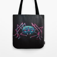 spider Tote Bags featuring Spider by AlexTroi