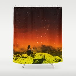Burning Hill Shower Curtain