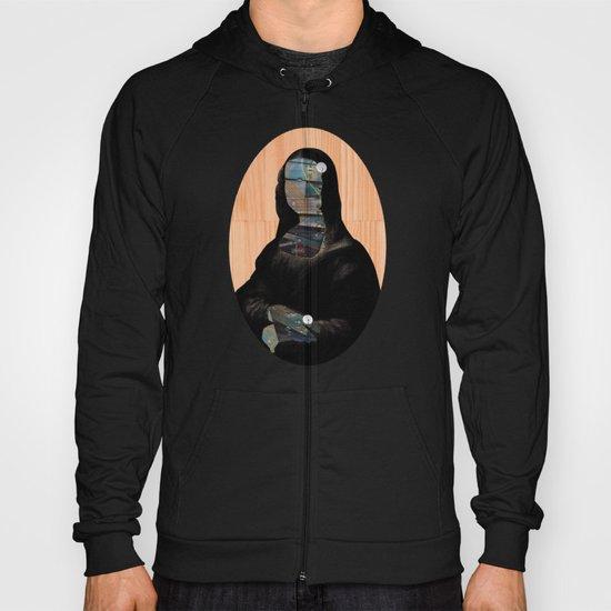 Mona Lisa V1c2b DarkDigital Oval Collage Hoody