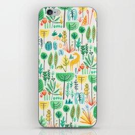 Jungle life with golden unicorn iPhone Skin