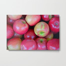 Delicious red apples Metal Print