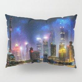 Shanghai Skyline Pillow Sham