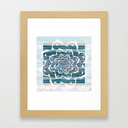 white dolphins' gyre Framed Art Print