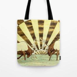 Elk Battle Tote Bag