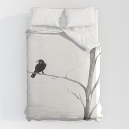 Raven in a Tree Duvet Cover