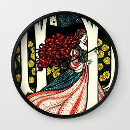 Forest Princess Wall Clock