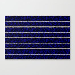 Silver Stripes with a Blue Plasma Background Canvas Print