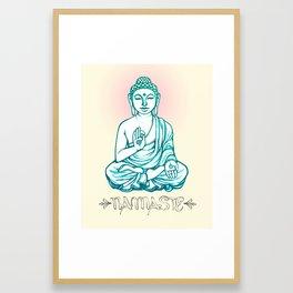 Buddha Namaste Framed Art Print