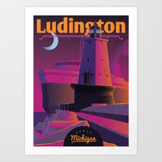 Ludington & the S.S. Badger Art Print