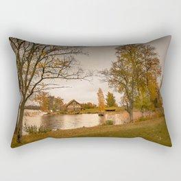 Autumn. Fisherman's house Rectangular Pillow