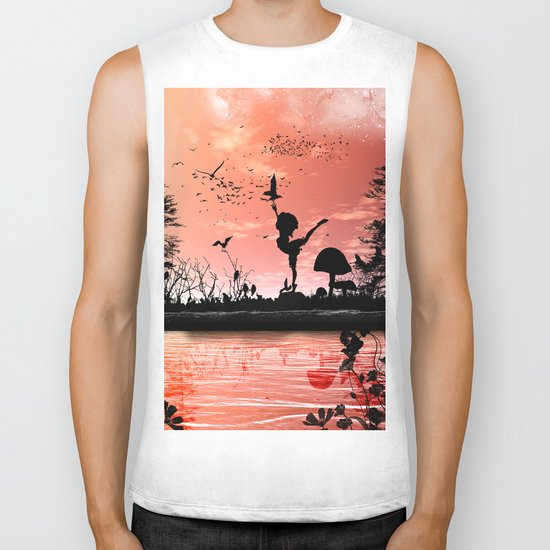 Dancing with the birds Biker Tank
