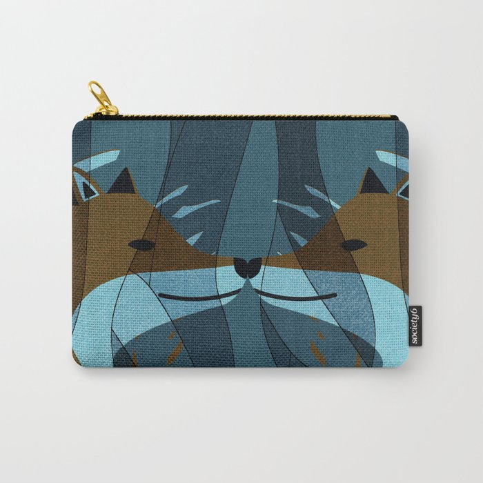 Gorgeous Foxes Kiss Design Carry-All Pouch