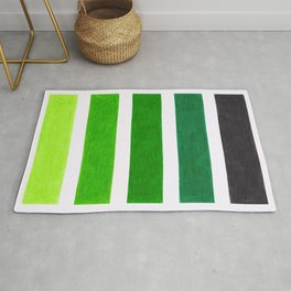 Colorful Green Stripes Rug