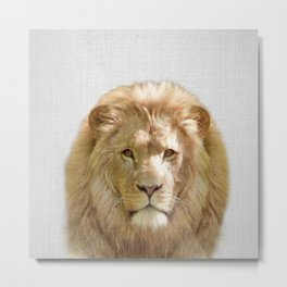 Lion - Colorful Metal Print