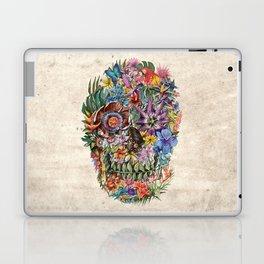 tropilcal floral skull 5 Laptop & iPad Skin