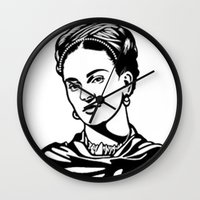 frida Wall Clocks featuring Frida  by b & c